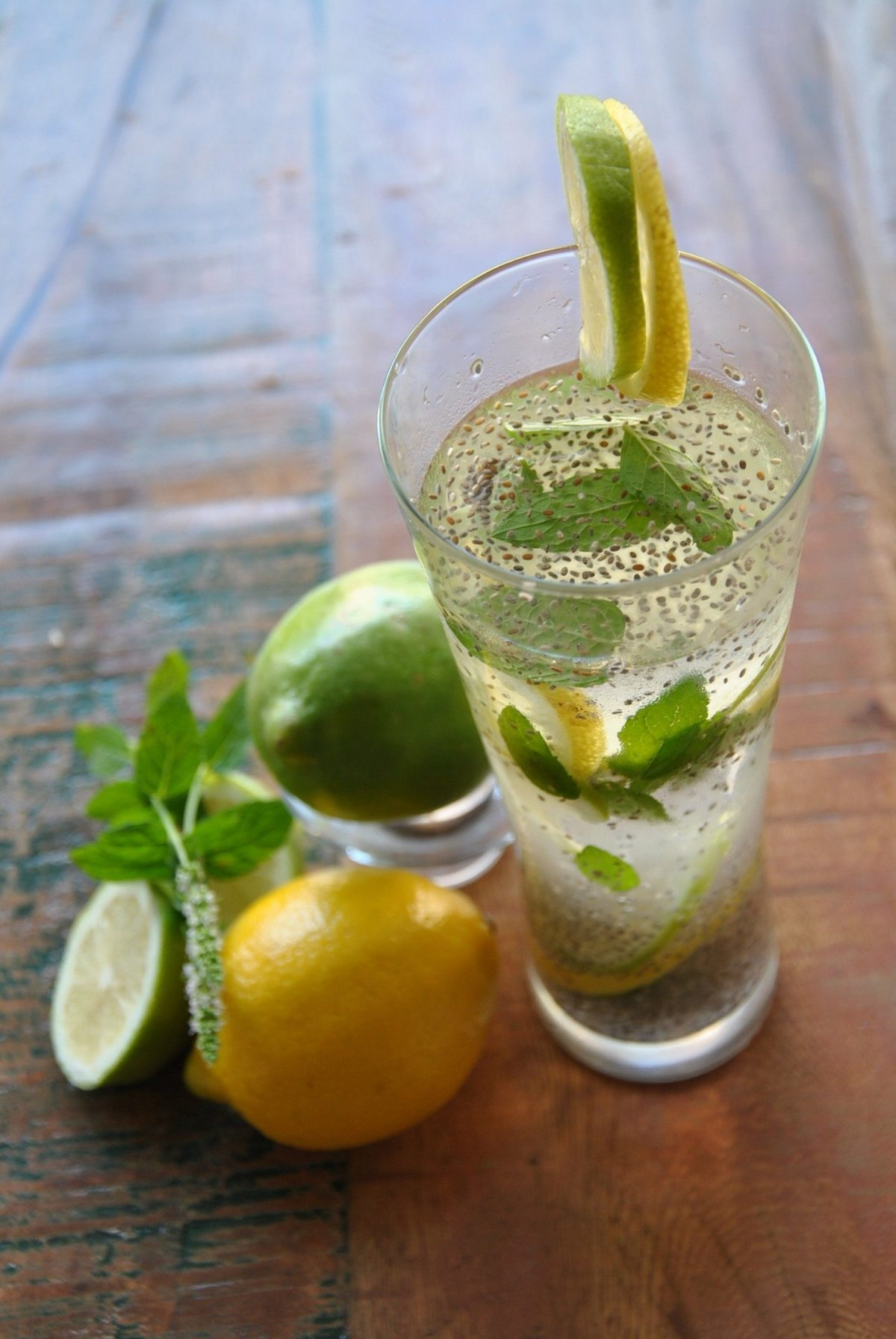 chia water lemon recipe to lose wight