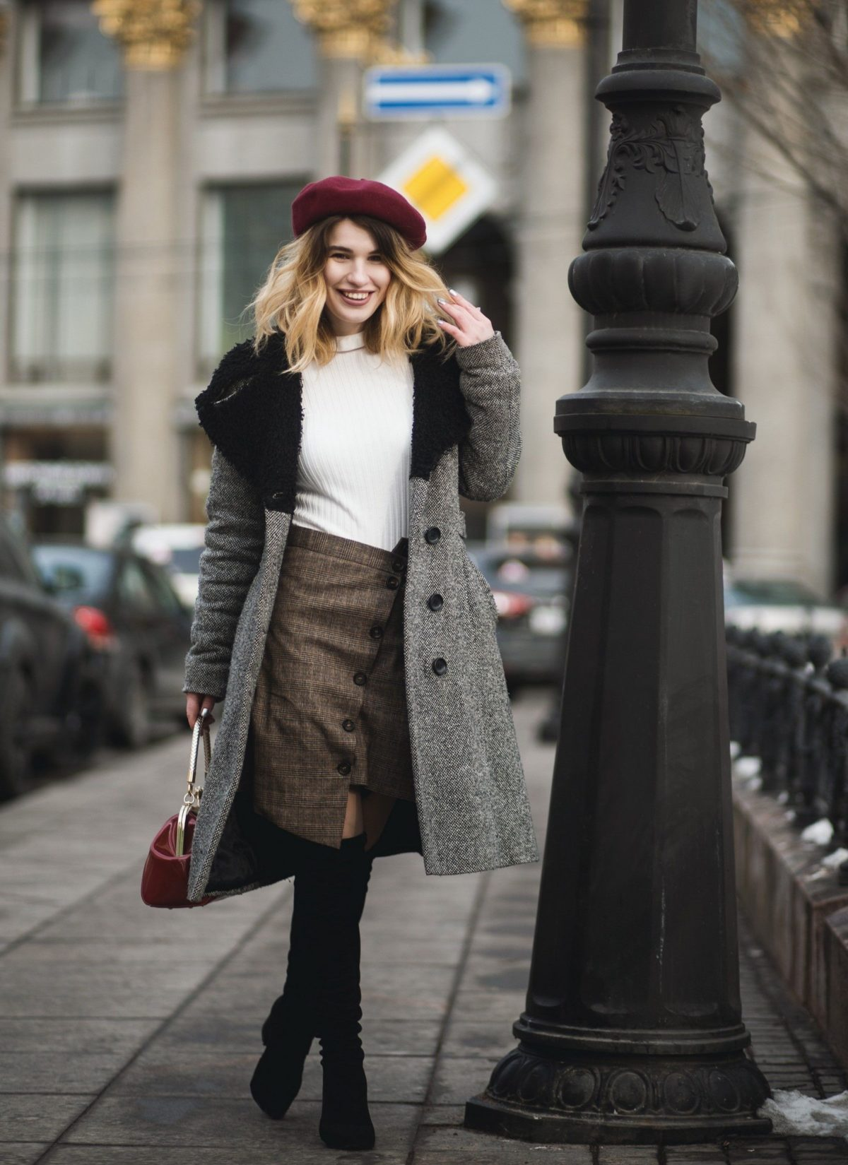 how to wear over the knee boots appropriate for work