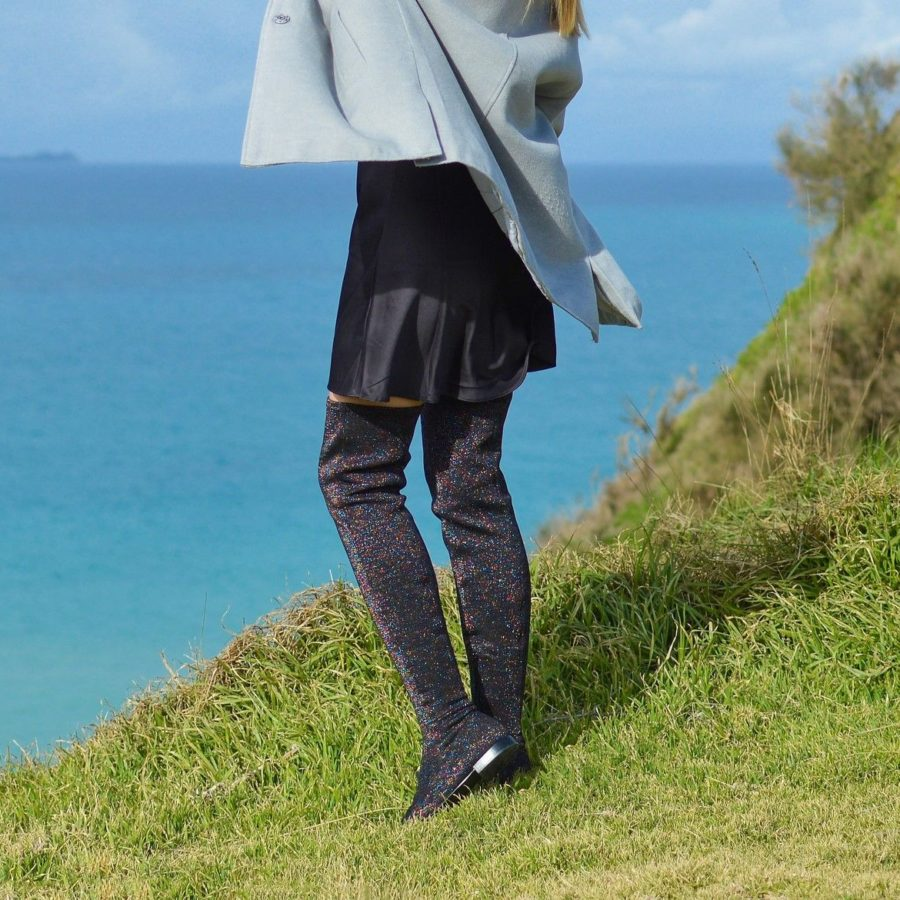 how to wear over the knee boots without looking trashy