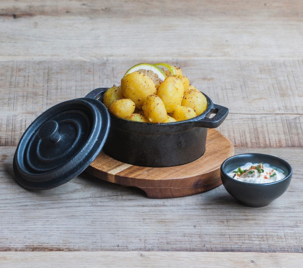 What eat after fasting boiled potatoes with dip