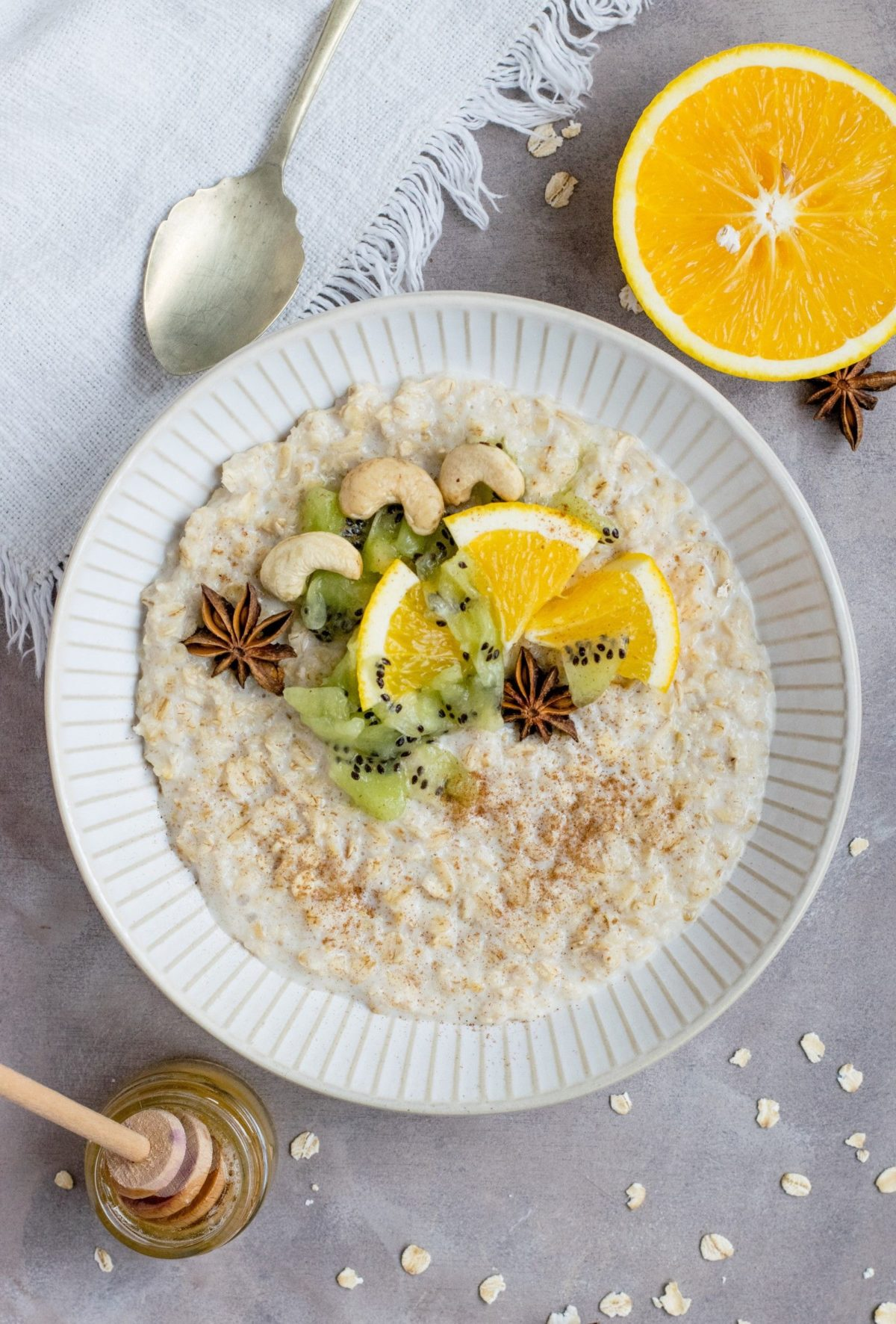 What kind of food to eat after fasting almond milk porridge with fruit