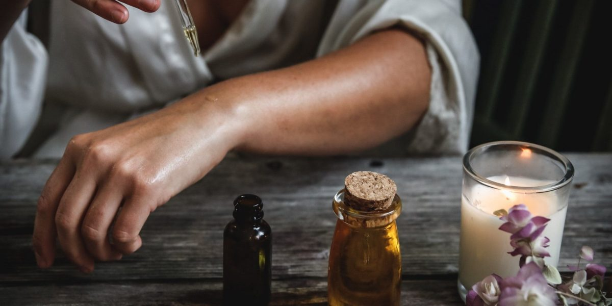 diy beauty products with essential oils for skin and nails