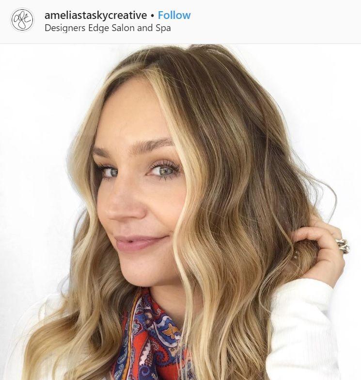 money piece hair blonde balayage technique instagram