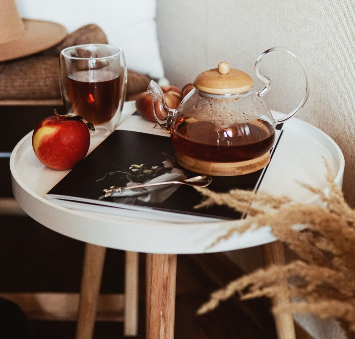 what to eat or drink after fasting apple herbal tea