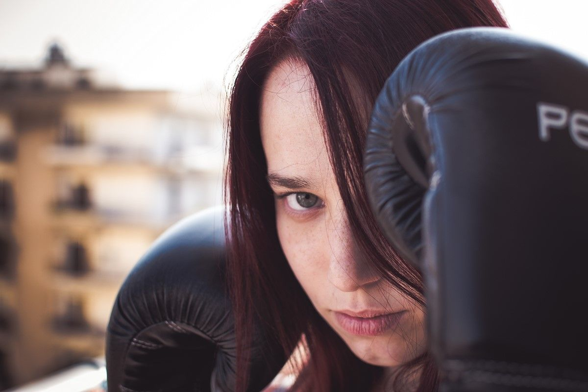 Stress reduction workout exercises boxing punches