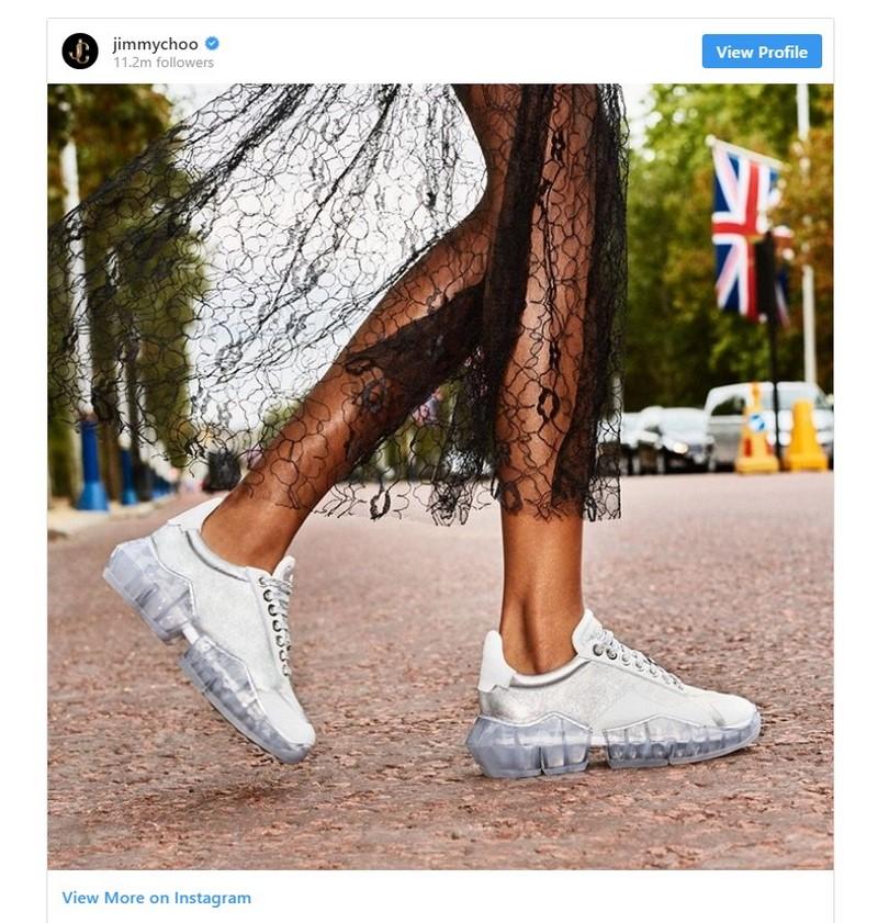 clear gum sole sneaker by jimmy choo sneakers trend 2020