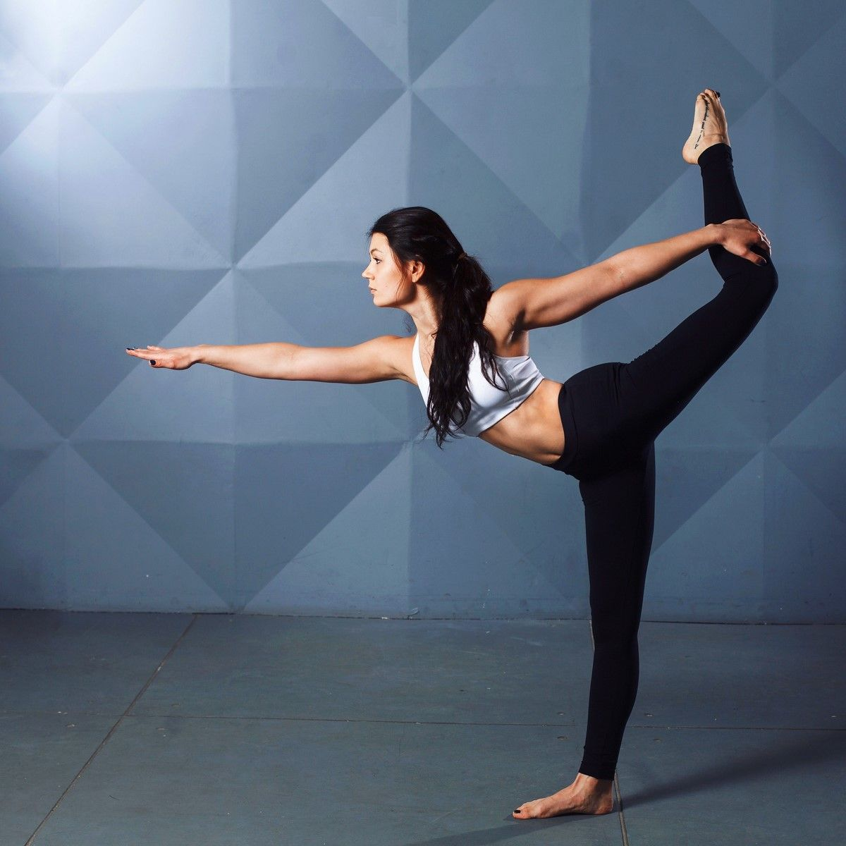 stress reducing breathing exercise the dancer pose standing scale