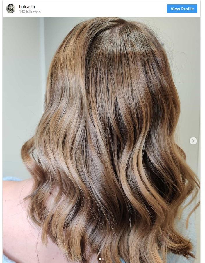 hair highlighting technique wetlights on light brown hair