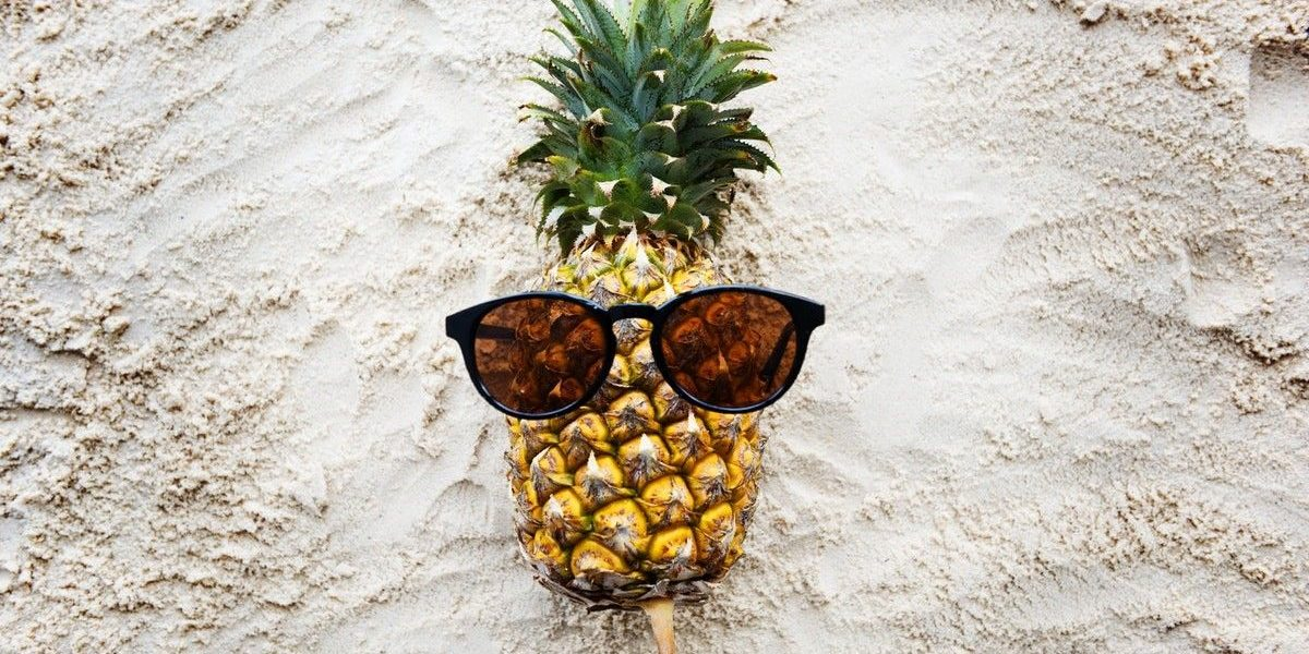 pineapple is good for your skin because of fruit acid and vitamins
