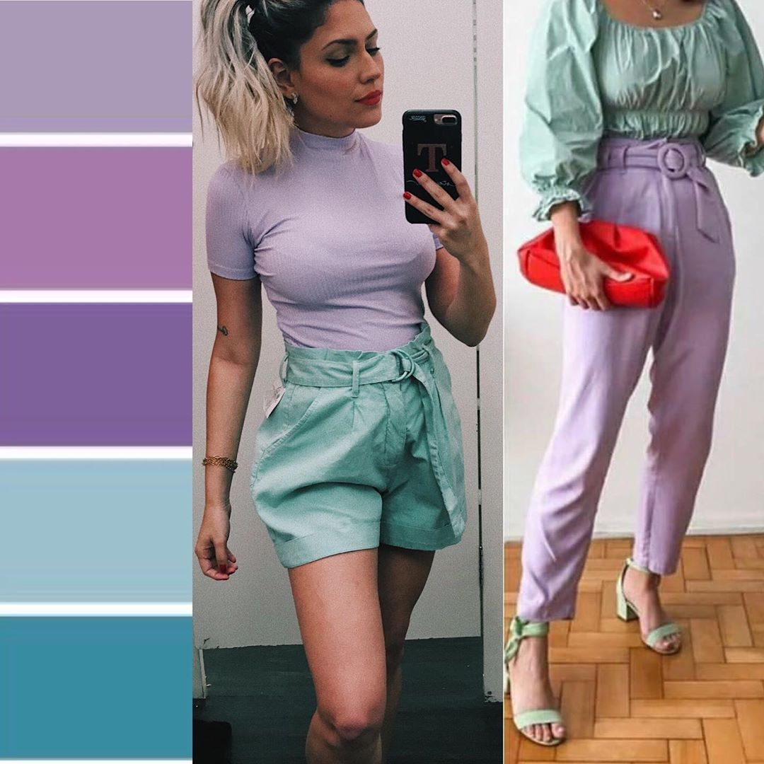 do purple and green go together clothes lavender and mint