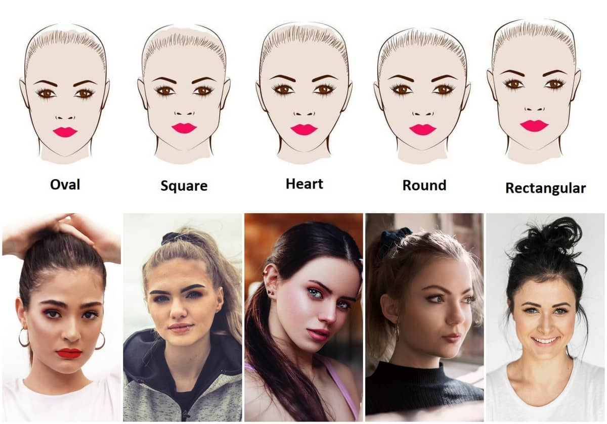 Ponytail according to face shape
